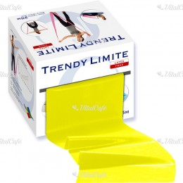 Fitnesz szalag Trendy Limite 25 m gyenge sárga
