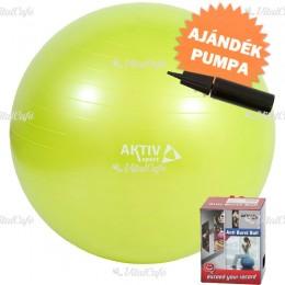 Durranásmentes labda Aktivsport 65 cm+ 2 utas labdapumpa