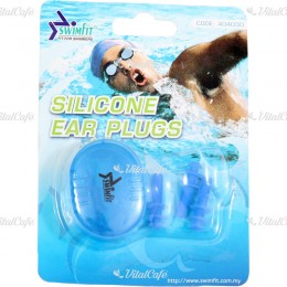 Swimfit 404030 füldugó szilikon 3 db/cs kék