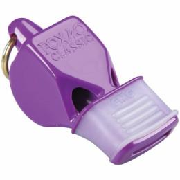 Síp Fox 40 CMG fogvédővel lila sípzsinórral