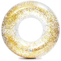 Csillám úszógumi Intex átlátszó arany