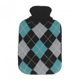 Melegítő palack (Vivamax/rombusz mintás/kék/2L)