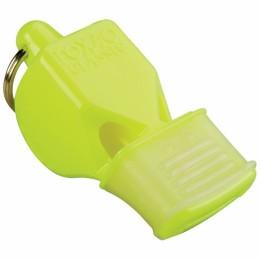Síp Fox 40 CMG fogvédővel neon sárga sípzsinórral