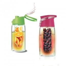 Limonádé készítő palack, 450 ml - Rózsaszín