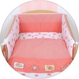 3 részes gyerek ágynemű garnitúra bélelt fejvédővel