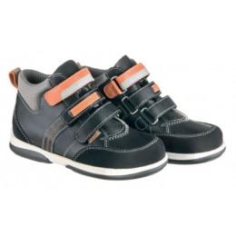 Memo Polo szupinált gyerekcipő fekete/narancssárga