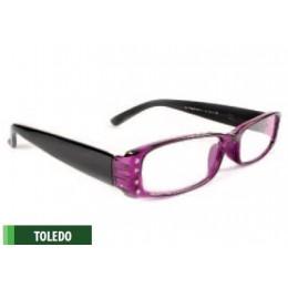 Lilakeretes olvasószemüveg 1,5 diopriás