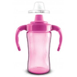 Itató pohár - pink füllel 260 ml