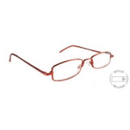 Vékony keretes piros szemüveg