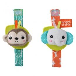 BS Csörgő karkötő rágókával 2 db majom/elefánt 0hó+