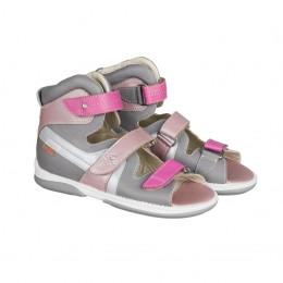 MEMO gyerekcipő - IRIS szürke-rózsaszín