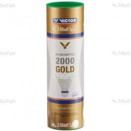 Tollaslabda Victor 2000 Gold zöld csík, fehér szoknya