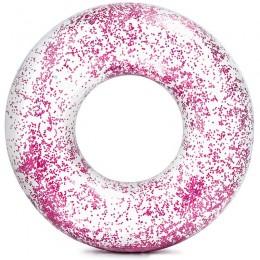 Csillám úszógumi Intex átlátszó rózsaszín