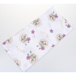 BabyBruin nyomott mintás textil pelenka, 2db