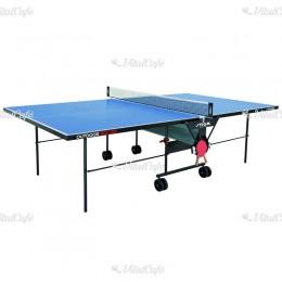 Stiga ping-pong asztal Outdoor Roller kültéri, kék, hálóval és hálótartóval