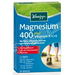 KNEIPP MAGNEZIUM400+B+C+E VITAMIN+FOLSAV