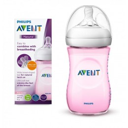 Avent SCF034/17 Natural cumisüveg 260 ml PINK