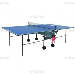 Stiga beltéri ping-pong asztal Basic Roller kék