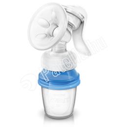 Avent kézi mellszívó újrahasználható Via tárolópoharakkal