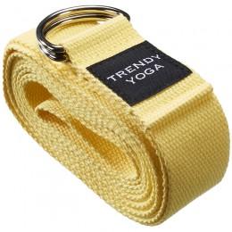 Jóga szalag Trendy 190x4x0,2 cm sárga