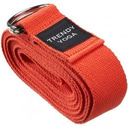 Jóga szalag Trendy 190x4x0,2 cm piros