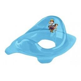Áttetsző Princess wc szűkítő kék csillámos