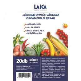 Laica vákuum légcsatornás, BPA mentes csomagoló tasak 20x28cm. 20db
