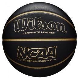 Kosárlabda Wilson NCAA Highlight 7-es méret fekete-arany